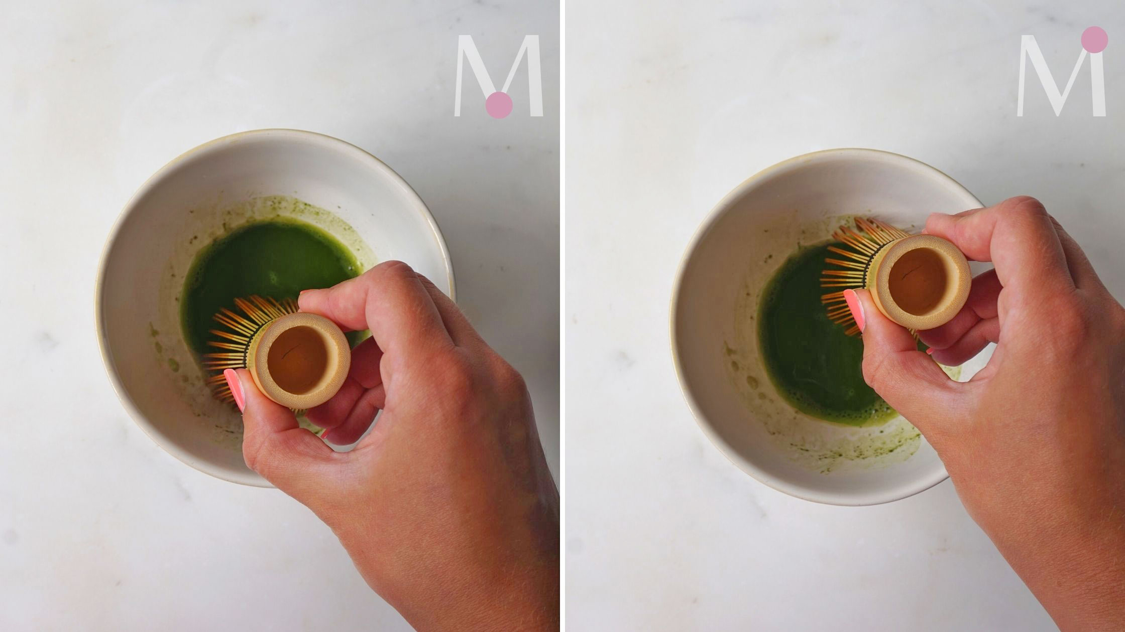 steps to make matcha latte