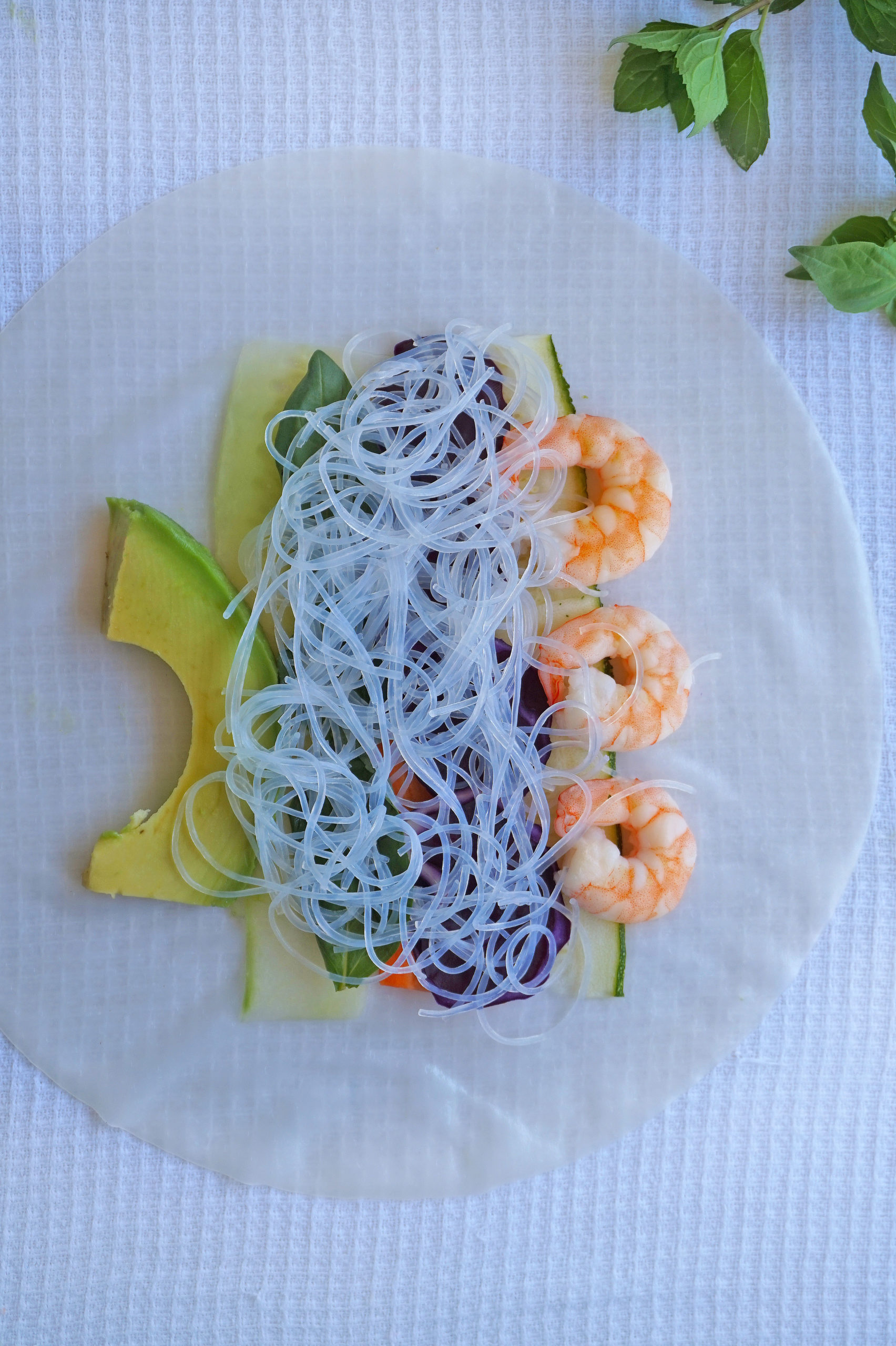 homemade shrimp summer rolls